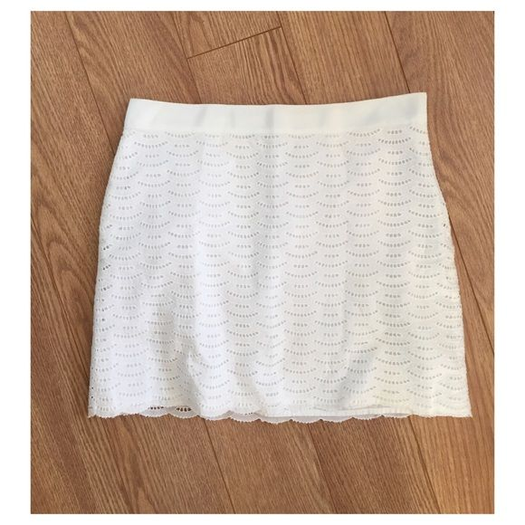 J. Crew White Eyelet Skirt super cute // no flaws - I can get you discounted shipping, just ask! J. Crew Skirts Mini