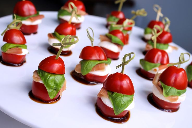 Vegetarian canapés recipes for a stylish party - Unica Sport