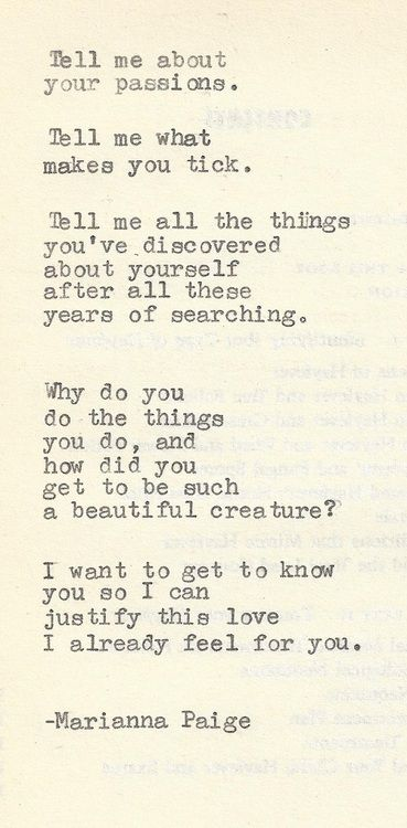 tell me all the little things about you...