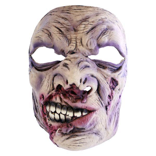 Zombiemaske halvsmil - Skumle Halloween masker