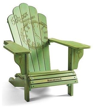 I would LOVE a set of these for my balcony!!  Margaritaville Adirondack Chair, Patio Furniture contemporary outdoor chairs