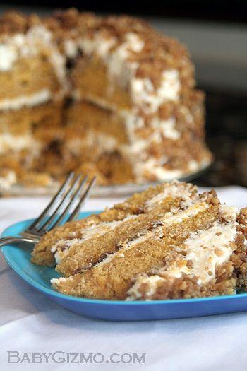 Pumpkin Crunch Cake - Best. Cake. Ever.