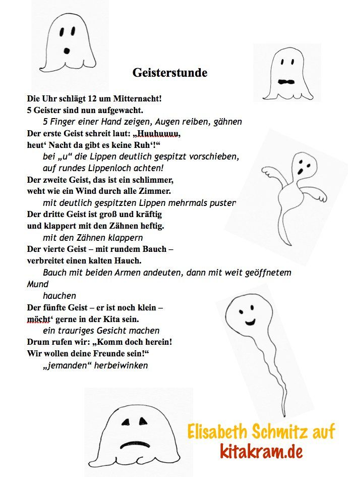 Gespenster und Geister in der Kita – KitaKram.de