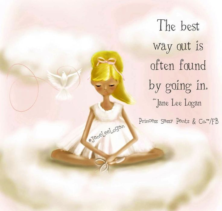 Best way out advice quote and illustration via www.Facebook.com/PrincessSassyPantsCo