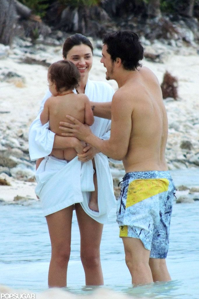 :) Miranda Kerr and Orlando Bloom took a vacation to Mexico with Flynn.