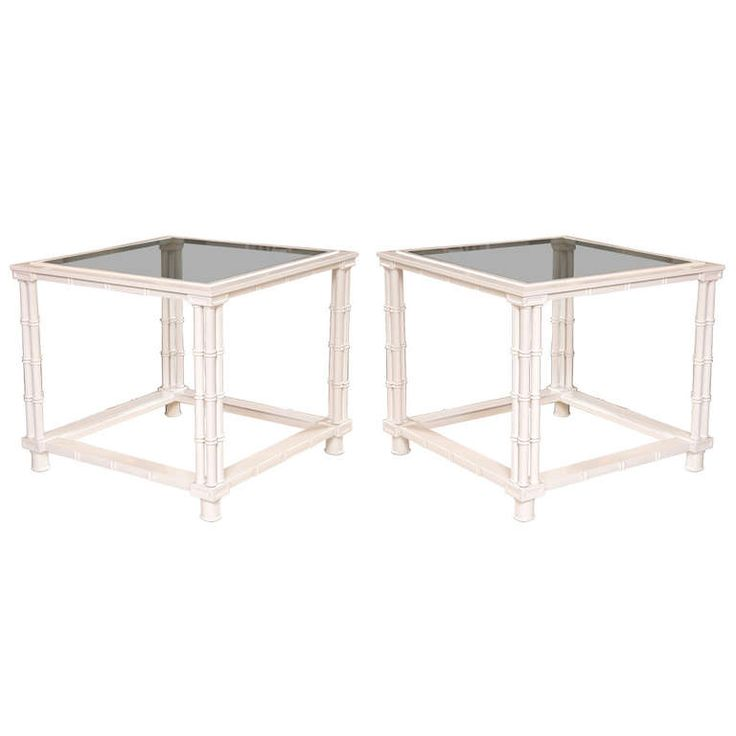 Pair of Mid-Century Faux Bamboo Tables