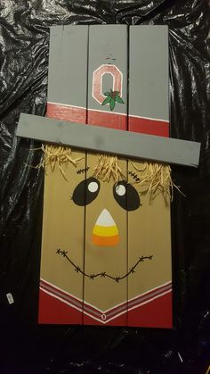 My rendition...Ohio State pallet board scarecrow