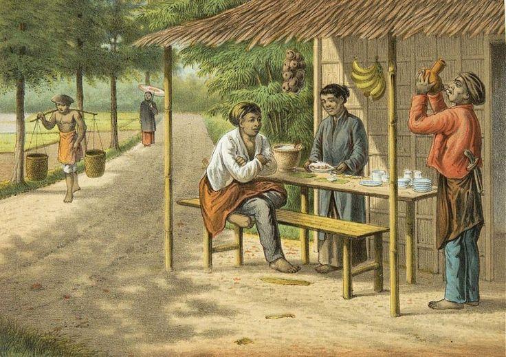 Josias Cornelis Rappard - Warung di pinggir jalan di Bogor