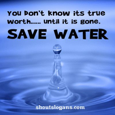 save water slogans poster
