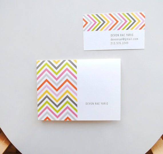 Personalized Chevron Stationery Note Cards by AlmostSundayInc, $18.00