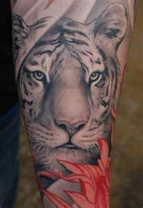 cool tiger tattoo
