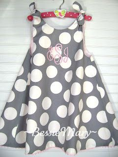 dress with tie knots: BessieMary: Sewing for Children