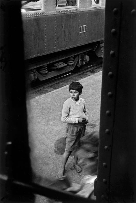 © Sergio Larrain/Magnum Photos CHILE. Region of Araucania. Railway station. 1963.