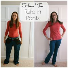 Pleats and Ruffles: Tutorial: How to Take In Pants (Good tutorials on altering clothing)