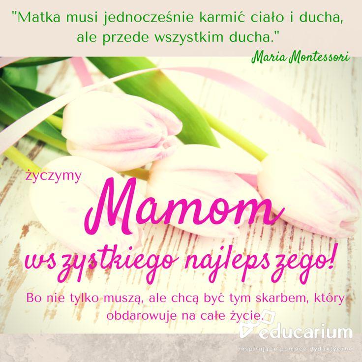 Wszystkiego najlepszego, z lekką nutą montessoriańską, życzymy wszystkim Mamom :)  Dowiedz się więcej o tej niesamowitej kobiecie, która inspiruje educarium