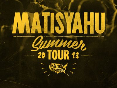 The backstage laminate design for Matisyahu's summer tour.