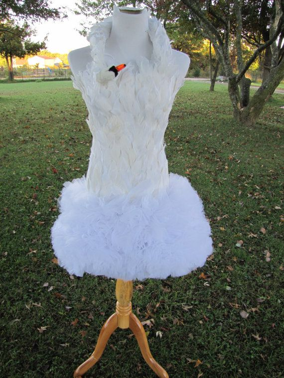 Schwan Kostüm selber machen - Kleid