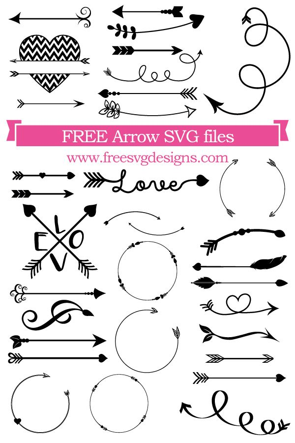 Download Free arrow cut files at www.freesvgdesigns.com. FREE ...