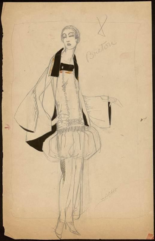 1922 - Paul Poiret dress - Sketch