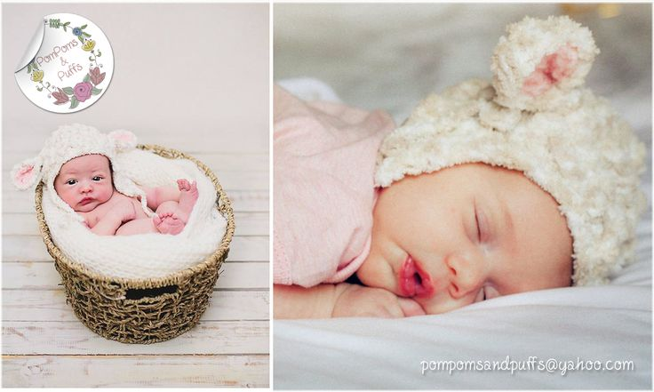 Our best seller. The 'Baby Lamb' hat used in these adorable newborn shoots.