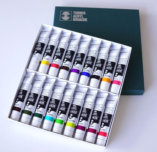 Turner® Acryl Gouache paints are made of high-quality color pigments that are quick drying with a nice velvet-like matte finish. Great adherence to clay, wood, metal and other various materials. Produ