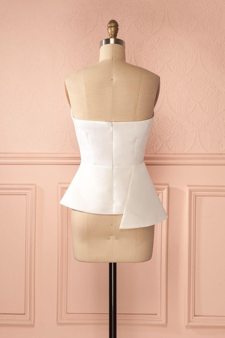 Harimilla - White asymmetric bustier top