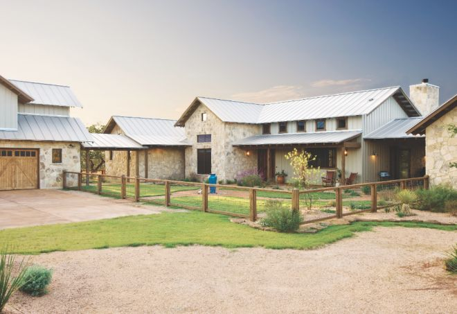 Rustic Ranch Style Homes | High Ridge Ranch in Wimberley, Texas, is a 5,300-square-foot compound ...