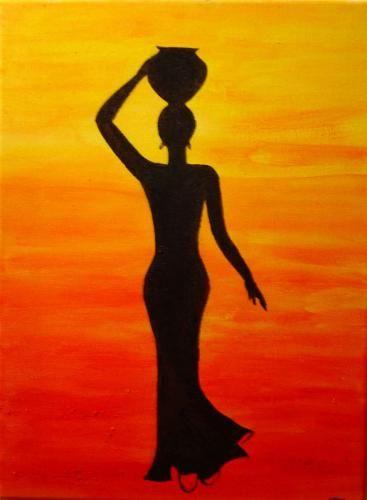 femme africaine peinture - Recherche Google