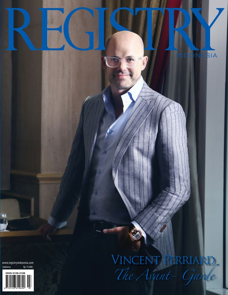 #Registry e Magazine  August - September 2014 Edition #Photographer : Registry Indonesia # Socialite : Vincent Perriard (The Avant - Garde) #RegistryE #Cover