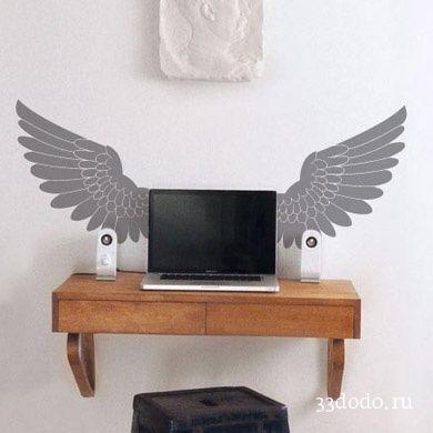"""Виниловая найклейка на стену """"Крылья"""""""