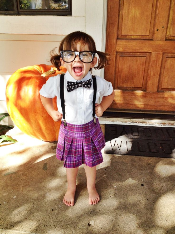 Cute girl nerd outfit ideas for Cute homemade halloween costumes for girls