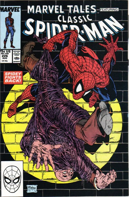 Marvel Tales #226 - featuring Classic Spider-Man - Cover by Todd McFarlane