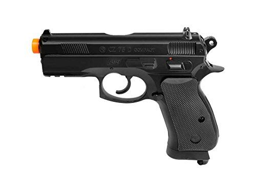 ASG CZ 75 D Compact Gas Powered Non Blowback Airsoft Pistol ** More info could be found at the image url.