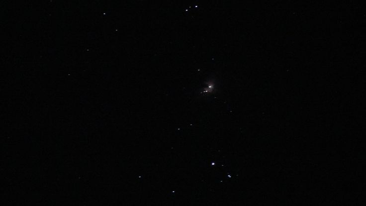 Orion Nebula through Nikon Coolpix P500, Iso 1600, 2 seconds exposure