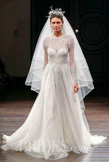 A long-sleeved Naeem Khan wedding dress (reminiscent of Kate Middleton's!) | Brides.com