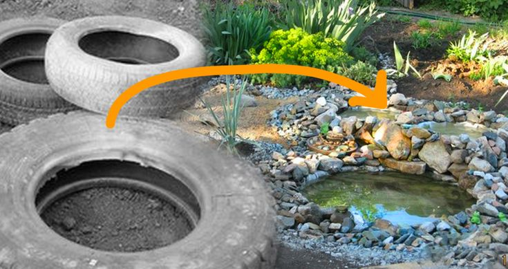 Make A Backyard Pond Out Of An Old Tire - Great tutorial with photos. You won't believe how it turns out,!