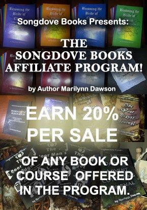 Songdove Books now has its OWN Affiliate Program!  Click through for ALL the details!  Get paid for sharing your favourite books and courses!
