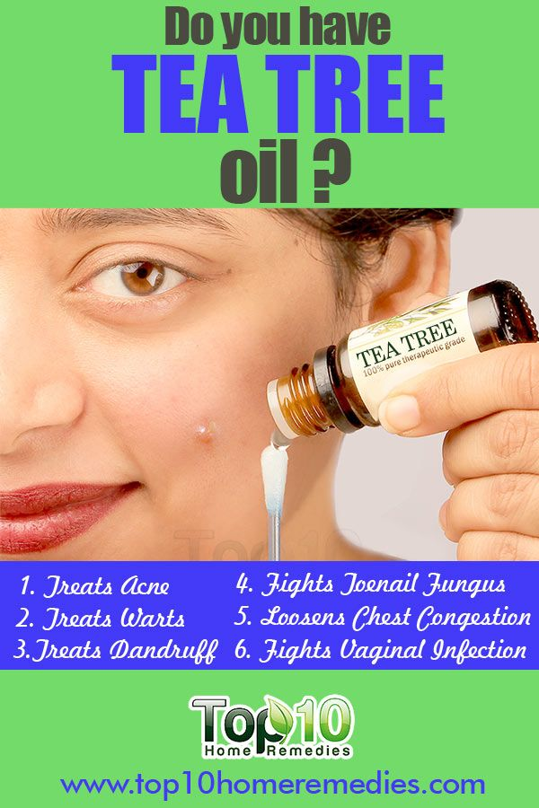 Learn how you can use the Amazing TEA TREE OIL to treat Acne, Toenail Fungus, Dandruff, Chest Congestion, Vaginal Infection, Boils and more.