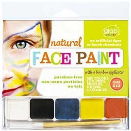 Natural Face Paint Set: Glob's natural face paint is made with certified organic ingredients. Safe for the body and face. No artific...