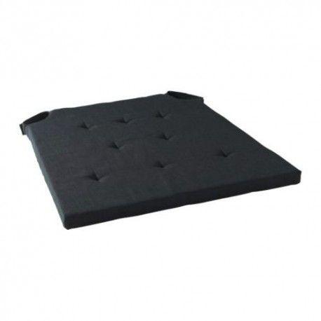 ADMETE Poduszka na krzesło, czarny, 43/36x42x2.5 cm, len ikea, 701.214.90, tekstylia ikea,