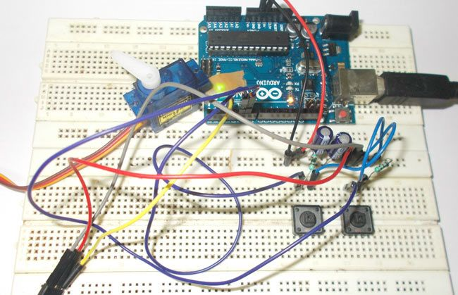 Servo Motor Interfacing with Arduino Uno | Arduino ...
