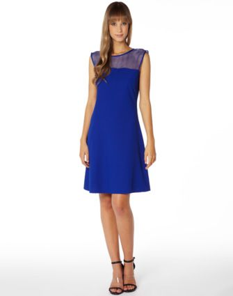 Organza insert dress @Glassons #backtowork #blue