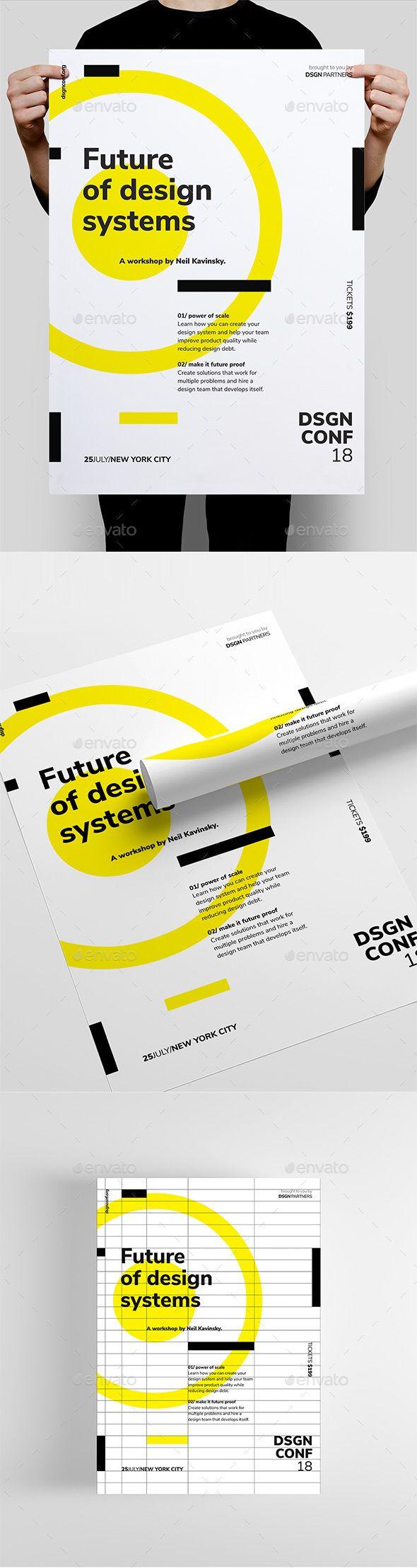 DSGN Series 3 Poster / Flyer Template — Photoshop PSD #webinar #programming • Download ➝ graphicriver.net/…
