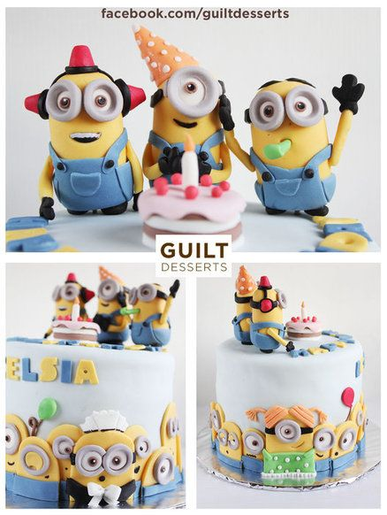 Minions Party Cake, i need this for my bday