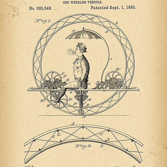 1885 Patent Bicycle