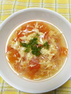 トマトと卵と春雨の中華スープ by まんまるまうちゃん [クックパッド ...