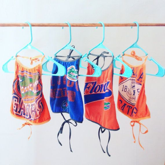 Upcycled Univeristy of Florida Gators Crop Top by g8rlingerie