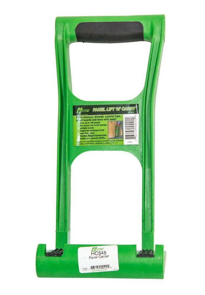 Drywall Lift And Carry Panel Mover Up To 150lbs Durable Plastic Construction #HiCraft