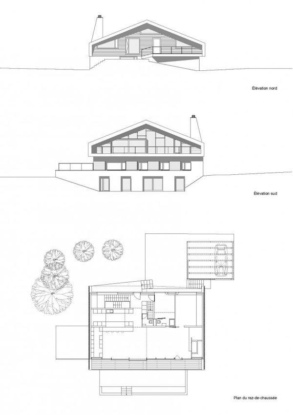 17 best images about floor plans on pinterest barn for Chalet moderne plan