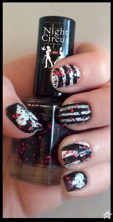 The Night Circus - nailart by ~holypetel on deviantART one of my favourite books and nails all in one place